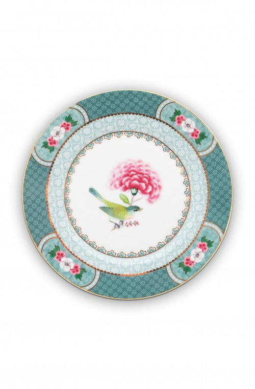 Pip Studio Blushing Birds Blue 17cm pastry plate - Daisy Park