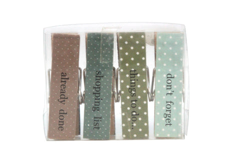 Wooden memo magnetic peg clips - Daisy Park