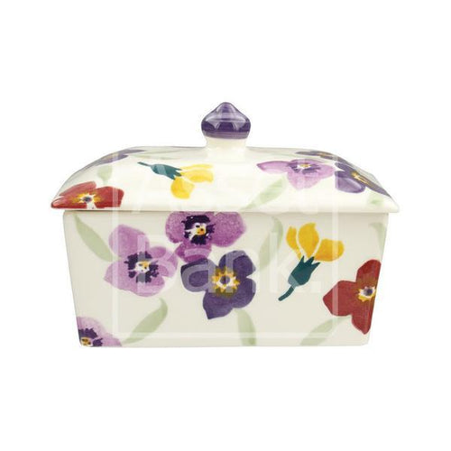 Emma Bridgewater Wallflower small Butter Dish - Daisy Park