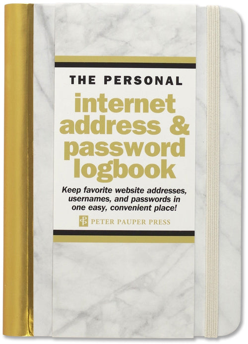 Internet address & password log book marble - Daisy Park