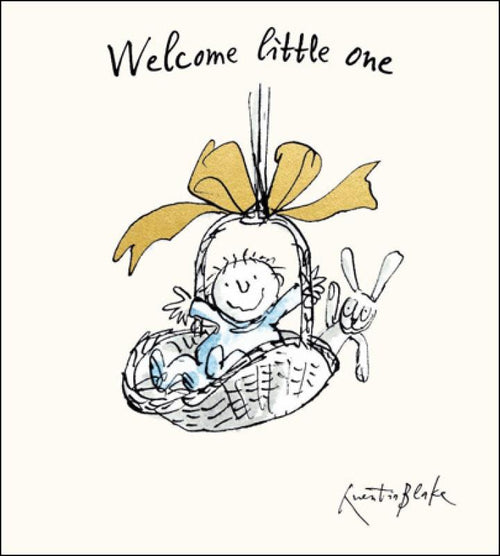 Welcome little one blue card - Daisy Park