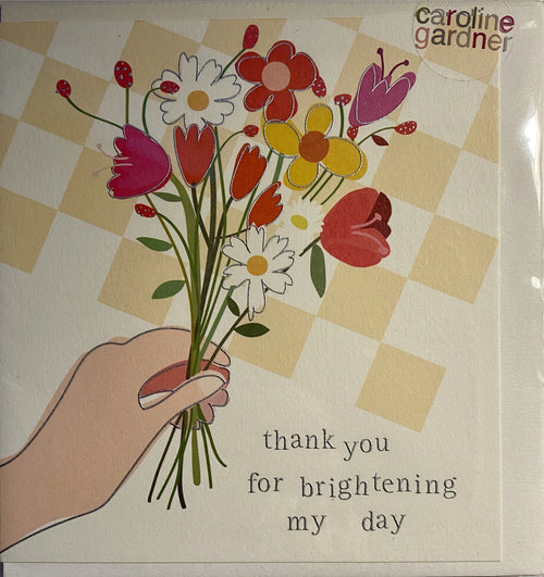 Thank you for brightening my day card - Daisy Park