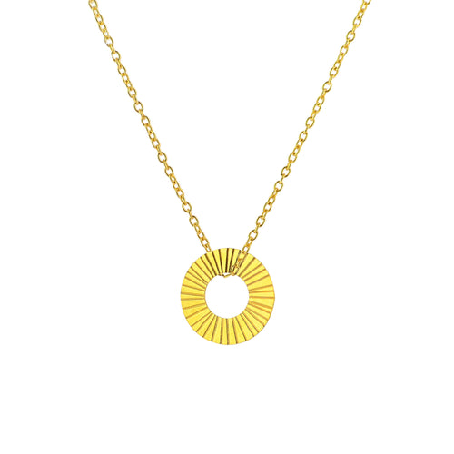 Gold Surfside Hoop necklace - Daisy Park