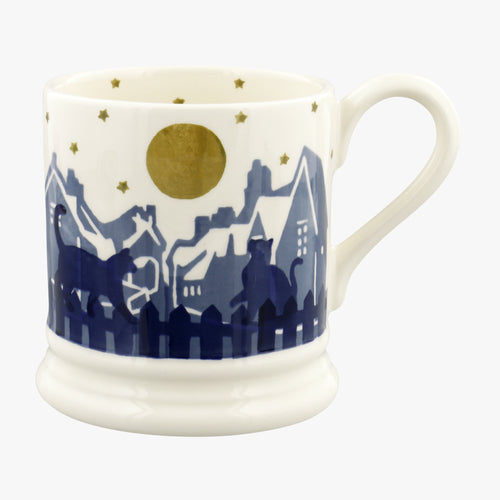 Emma Bridgewater Midnight cats 1/2pt mug - Daisy Park