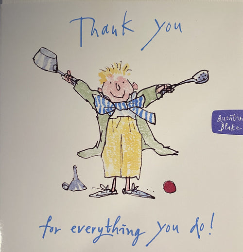 Thank you for everything you do card - Daisy Park