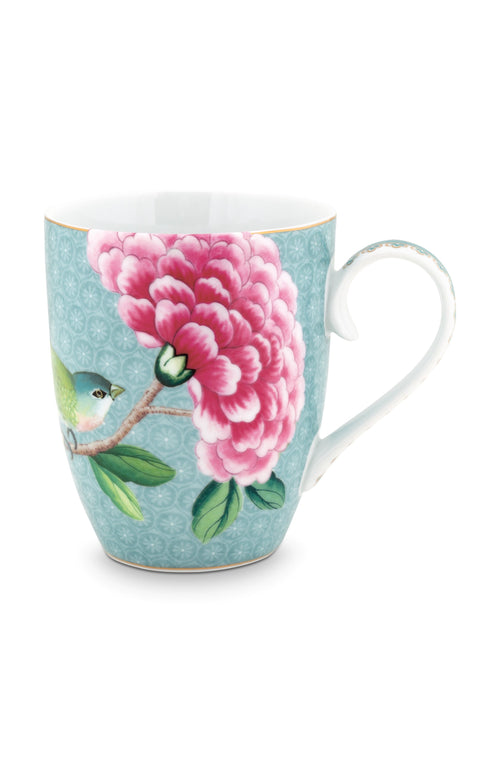 Pip Studio Blushing Birds large blue mug - Daisy Park