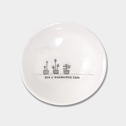 East of India Porcelain Wobbly Bowl - It's a Wonderful Life - Daisy Park