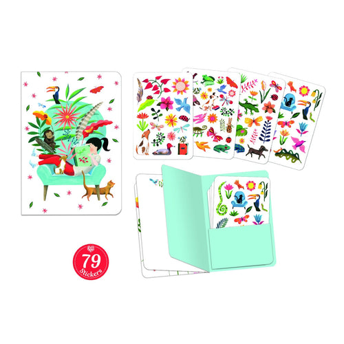 Djeco Sarah Notebook with Stickers - Daisy Park