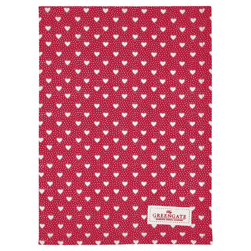 Greengate Penny red tea towel - Daisy Park