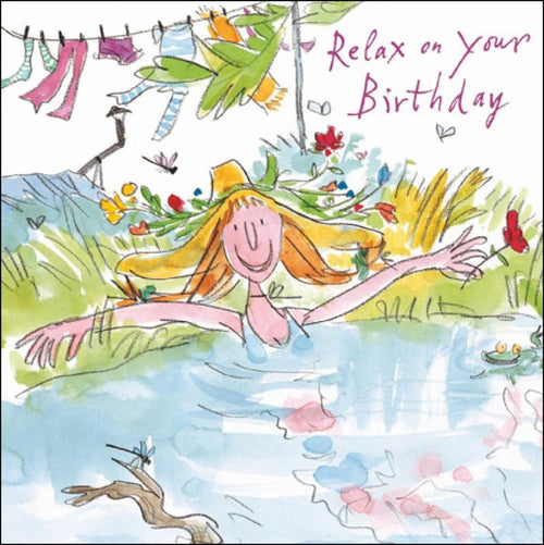 Daisy Relaxing birthday card - Daisy Park