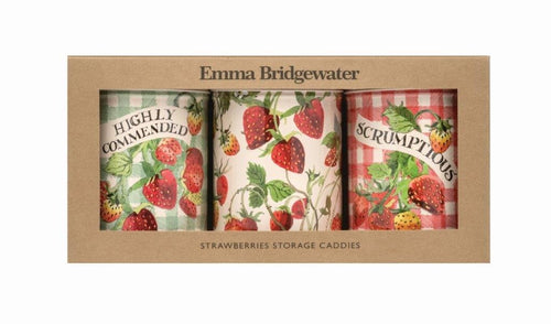 Emma Bridgewater Strawberries set of 3 caddies - Daisy Park