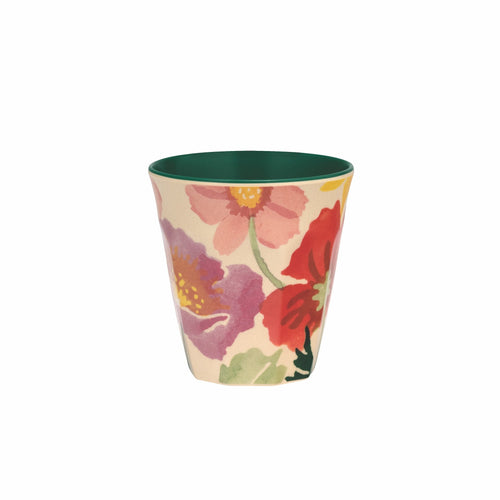 Emma Bridgewater Poppies and cosmos bamboo beaker - Daisy Park