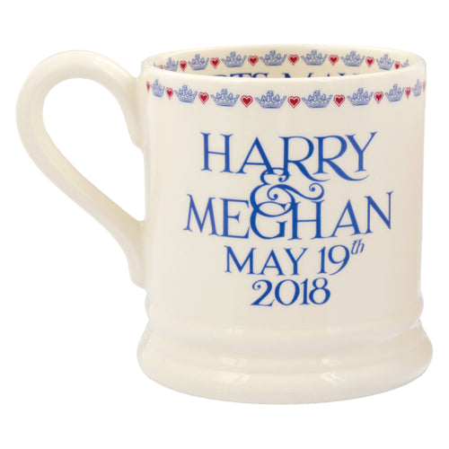 Emma Bridgewater Litho Harry & Meghan 1/2pt mug