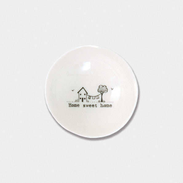 East of India small wobble Home sweet bowl