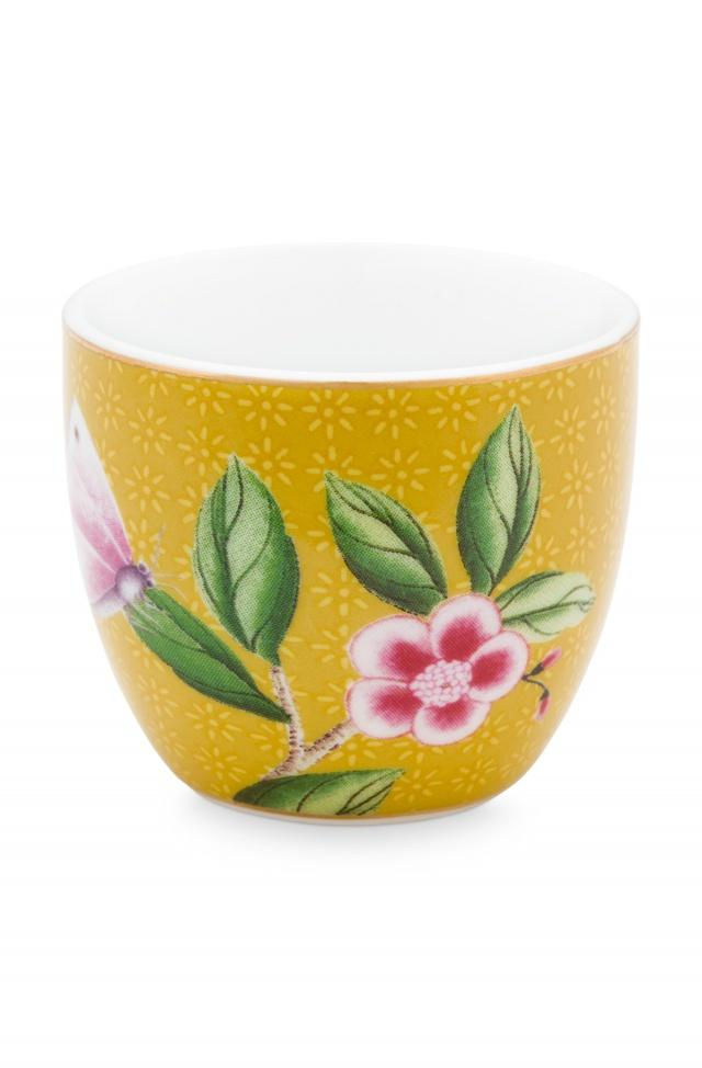 Pip Studio Blushing Birds Yellow egg cup - Daisy Park