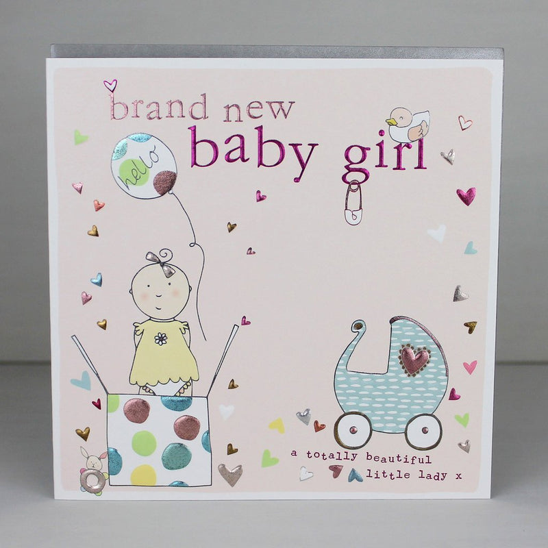 Brand new baby girl card - Daisy Park