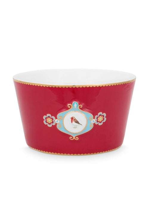 Pip Studio Love Birds Medallion red bowl 20cm