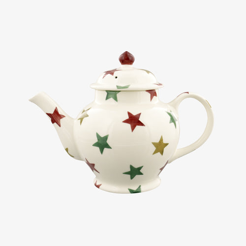 Emma Bridgewater Red Green & Gold Star 3 Mug Teapot. - Daisy Park