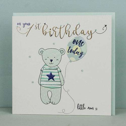 1st Birthday Boy card - Daisy Park