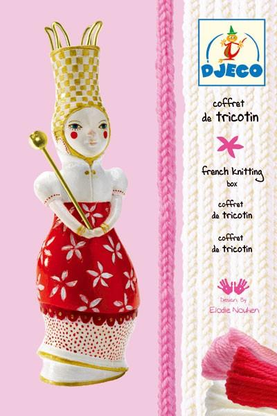 Djeco French Knitting doll red Elodie - Daisy Park