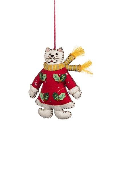 Christmas Cat in Red Dress - Daisy Park
