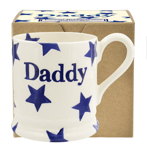Emma Bridgewater Daddy Blue star 1/2pt mug