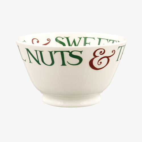Emma Bridgewater Christmas Toast & Marmalade Brazil Nuts Small Old Bowl - Daisy Park