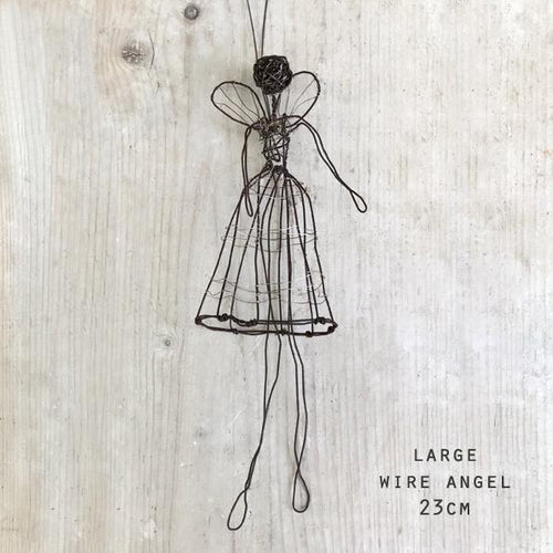 Woven wire angel - large - Daisy Park