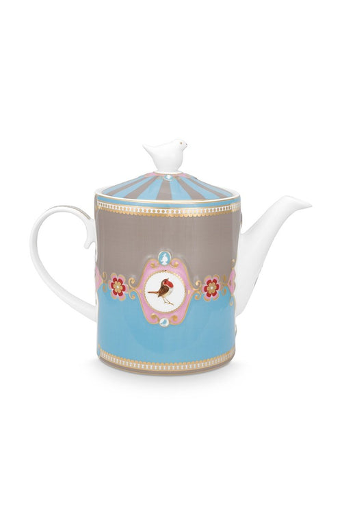 Pip Studio Love Birds medallion blue teapot
