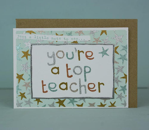 You're a top teacher mini card