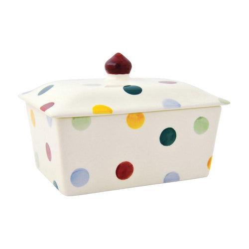 Emma Bridgewater Polka dot small butterdish - Daisy Park
