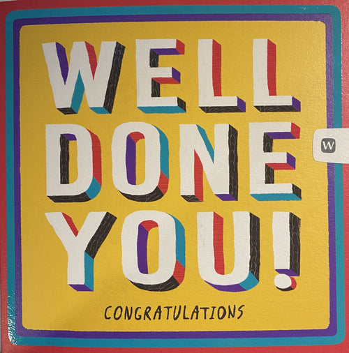 Well done you! Congratulations card