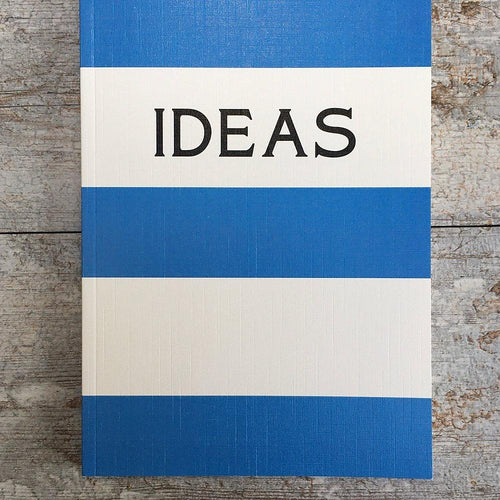Ideas blue stripe notebook - Daisy Park