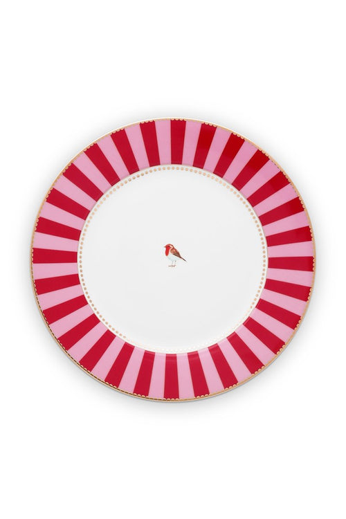 Pip Studio Love Birds 26.5cm red/pink dinner plate