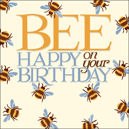 Emma Bridgewater Bee Happy on your birthday card - Daisy Park