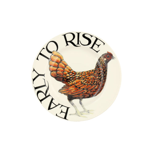 "Emma Bridgewater Rise & Shine Early to Rise 6.5"" plate - Daisy Park"