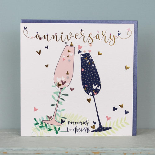 Large Anniversary memories to cherish card - Daisy Park