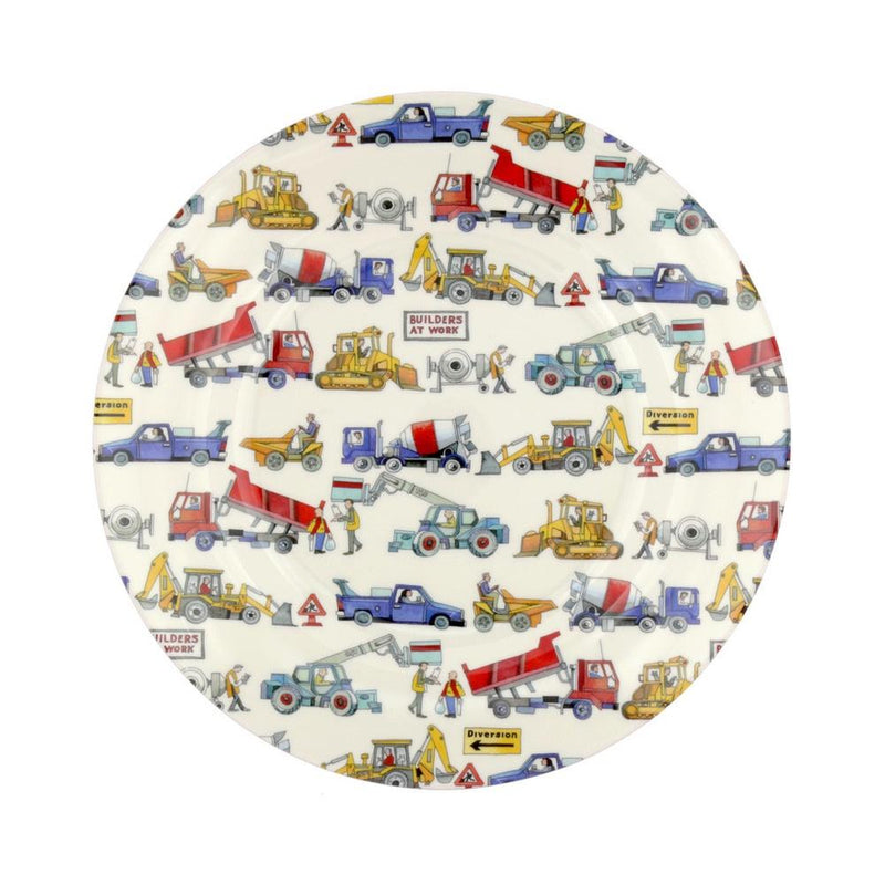 Builders at Work melamine plate - Daisy Park