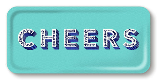 Asta Barrington aqua Cheers long tray - Daisy Park