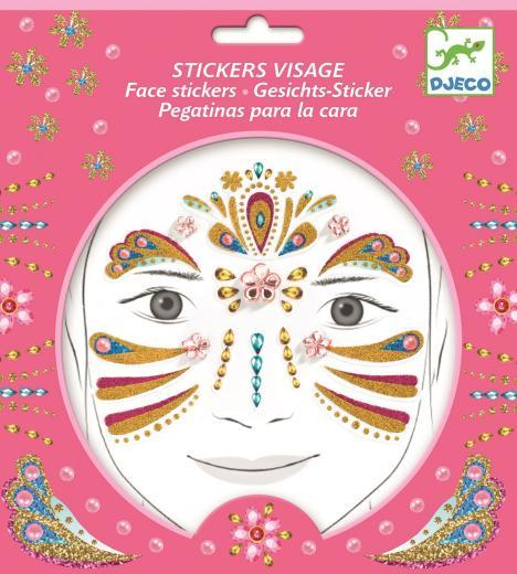 Djeco Gold Princess face stickers - Daisy Park
