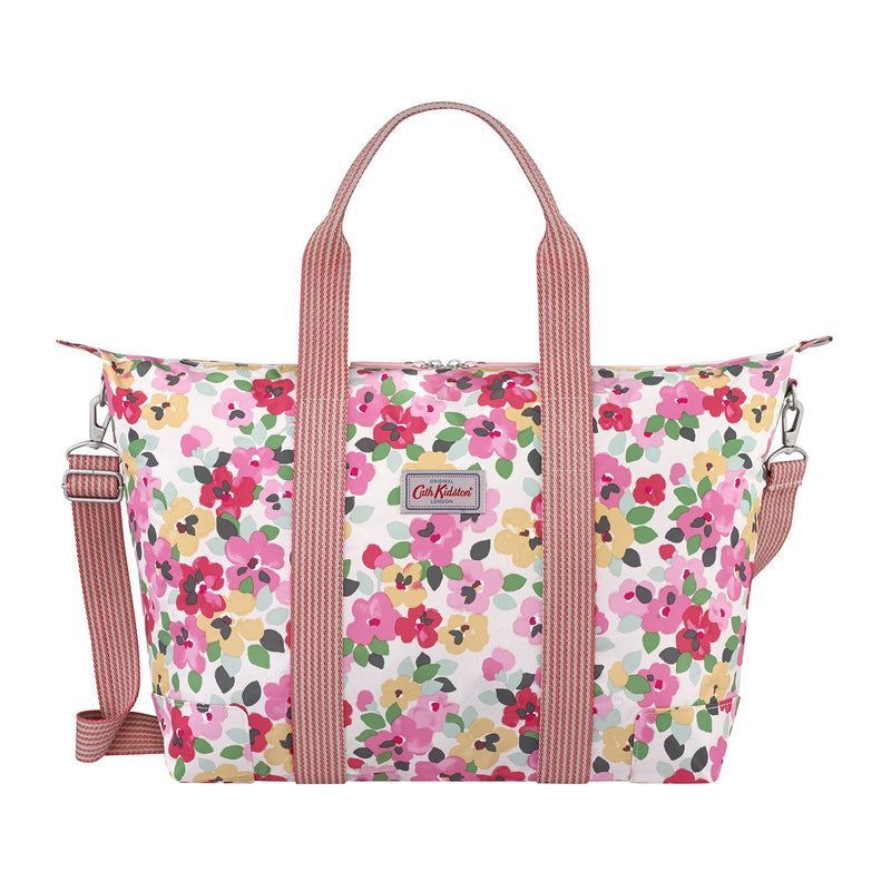 Cath Kidston Large Painted Pansies foldaway overnight bag - Daisy Park