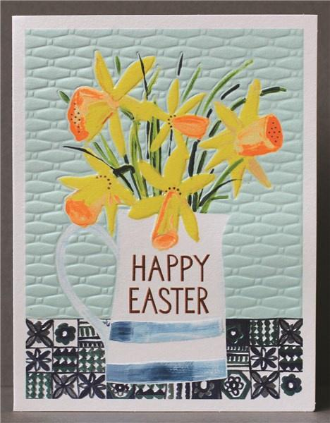 Happy Easter Daffodils card - Daisy Park