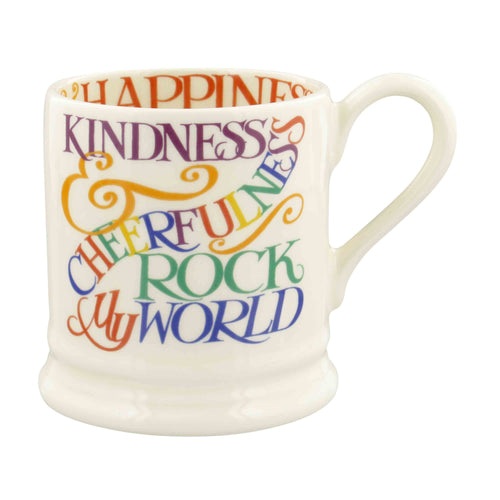 Emma Bridgewater Rainbow Toast Kindness & Cheerfulness 1/2 Pint Mug - Daisy Park