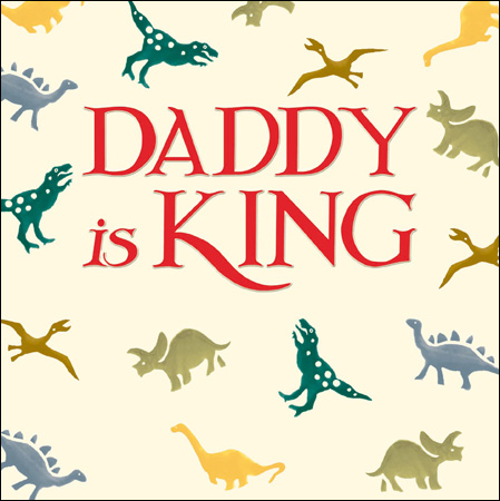 Emma Bridgewater Daddy is King card - Daisy Park