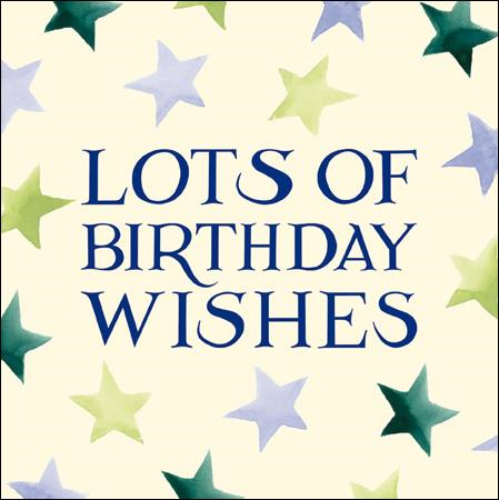 Emma Bridgewater Lots of Birthday wishes card - Daisy Park