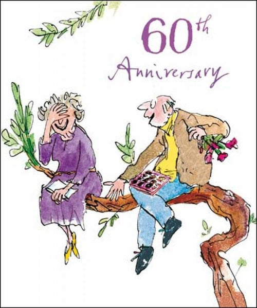 60th Wedding Anniversary card - Daisy Park
