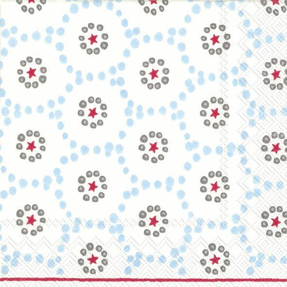 Winter dotty light blue cocktail napkins
