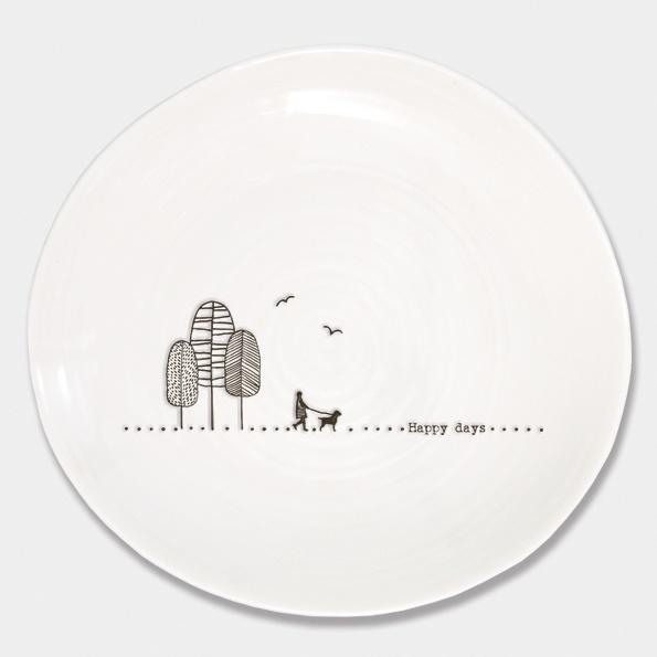 East of India Large plate - Happy Days