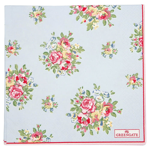 Greengate pale blue large Franka paper napkin