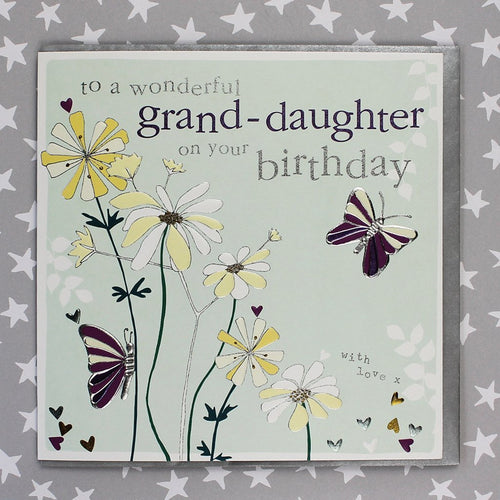 Wonderful Grand-daughter birthday card - Daisy Park
